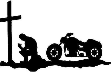 Motorcycle Cross Man Pray Vinyl Decal Sticker 3387 +