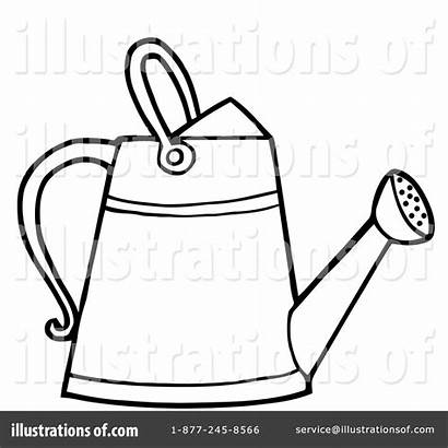 Gardening Clipart Tool Tools Colouring Illustration Pages