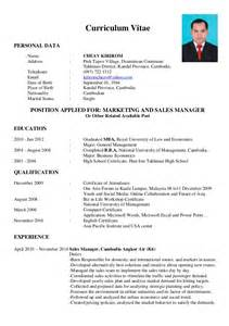 curriculum vitae for position resume area manager sales