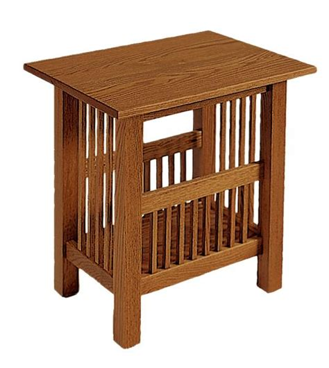 magazine rack table american mission magazine rack end table from
