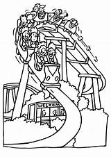 Coloring Pages Park Roller Coaster Amusement Fair Drawing Printables Fun Printable Sheets Simple Theme Vbs County Paper Food Carnival Bumping sketch template