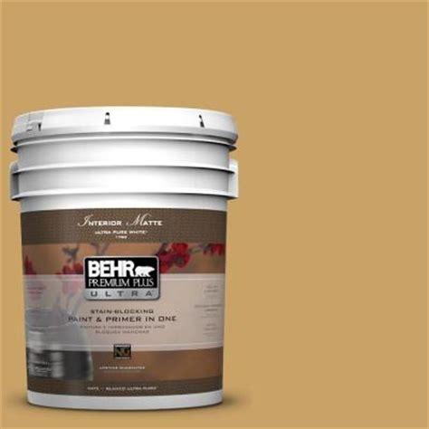 behr premium plus ultra 5 gal ppu6 17 classic gold flat