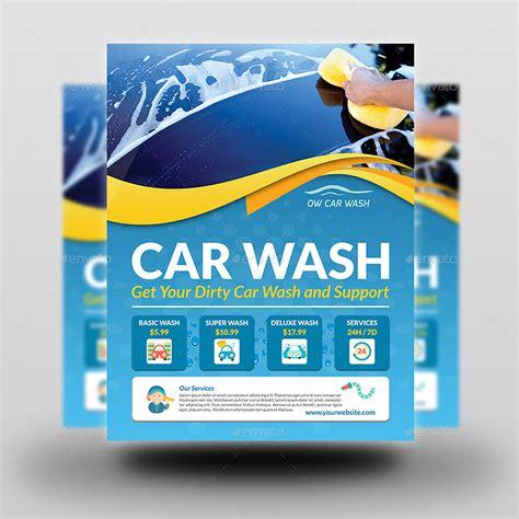 car wash service car wash flyers car wash flyer template flyer templates
