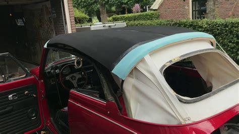 volkswagen super beetle convertible  replacing soft