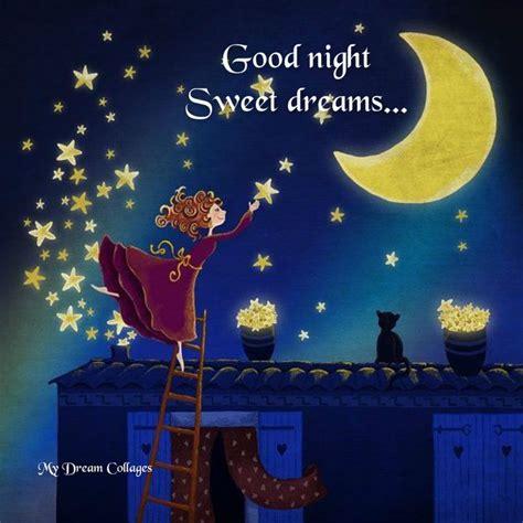 good night wishing moon  stars images mojly