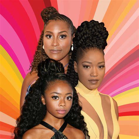 Black Half Hairstyles by Half Up Half Hairstyles Essence