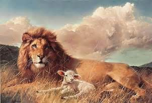 Lion and Lamb Art