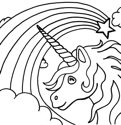 coloring pages unicorn rainbow rainbows