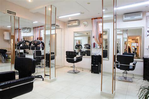 Interior Of Modern Beauty Salon Stock Image  Image Of