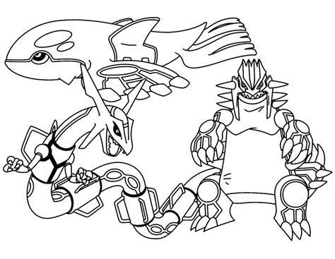 Mega Rayquaza Coloring