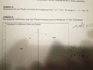 Nullstellen Berechnen Ganzrationale Funktionen : fl chenberechnung fl che zwischen 2 funktionen berechnen ~ Themetempest.com Abrechnung
