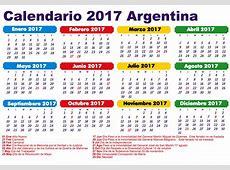 CALENDARIO DE FERIADOS 2017 EN ARGENTINA DIAS NO LABORABLES