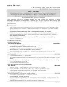 Paralegal Resume Samples Examples