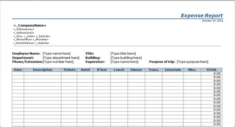 business expenses template spreadsheet templates for