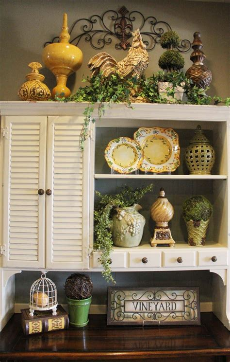 sailors country kitchen above cabinet decor greenery iron work placement a 5048