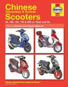 Haynes Chinese Taiwanese Korean Scooter Repair Manual