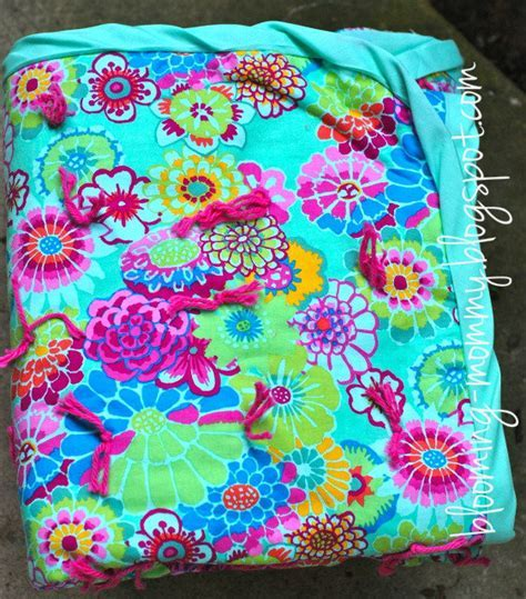 Blooming Tied Quilt   FaveQuilts.com