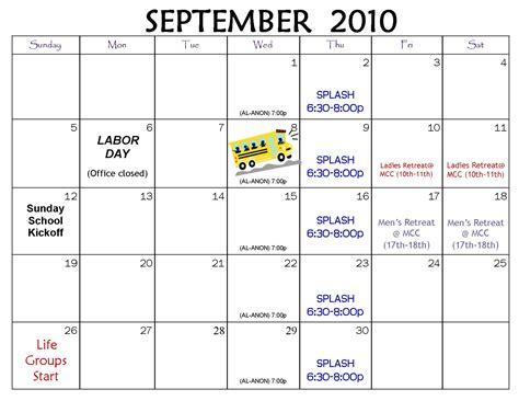 Calendar For Liverpool Christian Church