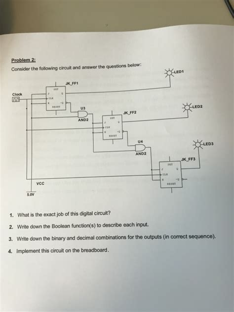 Solved Problem Consider The Following Circuit Answe