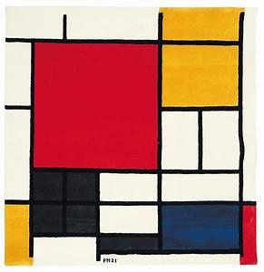 Tapis Jaune Et Bleu : piet mondrian composition en rouge jaune et bleu 1921 ~ Dailycaller-alerts.com Idées de Décoration