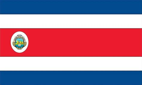 Pair of Costa Rica Flags (2) Decal Stickers FLG29 Costa