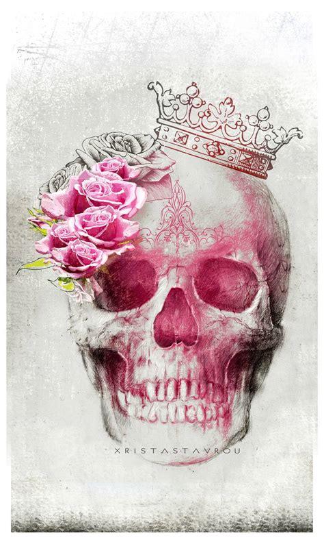 Skull Art Queen New Media Xrista Stavrou Saatchi