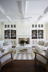Living Room with Fireplace and Built Ins