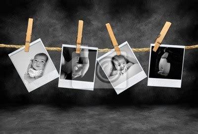 tableau infantile et maternelle photos polaroid d 233 veloppement dans une chambre posters