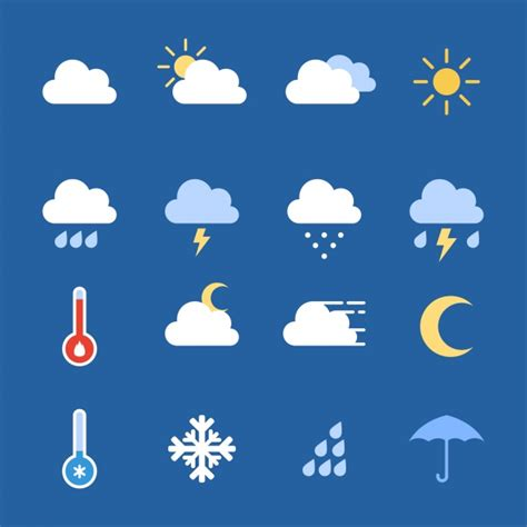 weather icons on iphone weather icons collection vector free