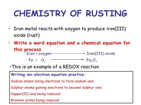 chemistry corrosion grade standard rusting iron oxygen water metal reacts wool acid