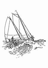 Ship Coloring Sailing Clipper Drawing Getdrawings Pages sketch template