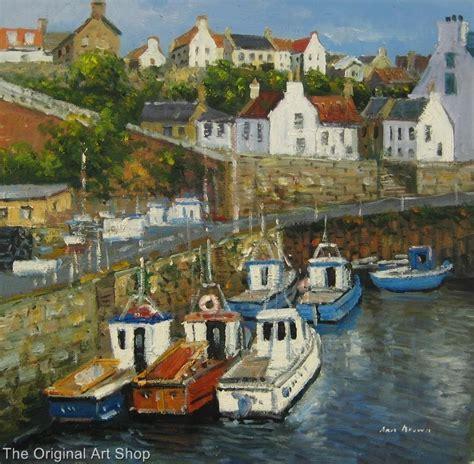 Ebay Boats Scotland by Crail Harbour Fishing Boats Fife Scotland Painting Ebay