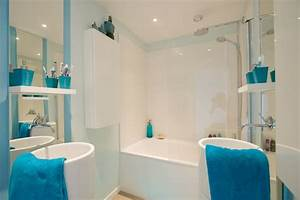 Blue bathroom decorating ideas stylish eve for Salle de bain design avec golf décoration et accessoires