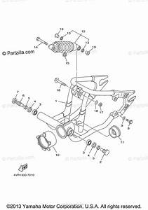 Yamaha Motorcycle 2000 Oem Parts Diagram For Rear Arm