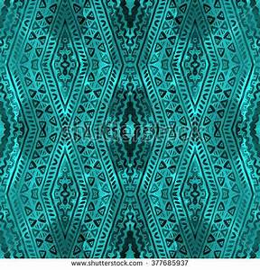 Ikat Colorful Seamless Background Ikat Colorful Stock