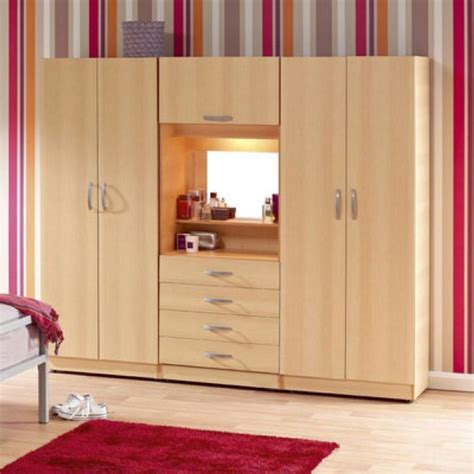 Mirrored Wardrobe With Shelves by Details About Brand New 4 Door Fitment Wardrobe With