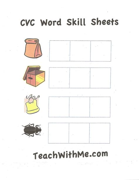 free coloring pages of cvc words