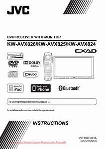 Jvc Kw-avx826 User Guide Manual