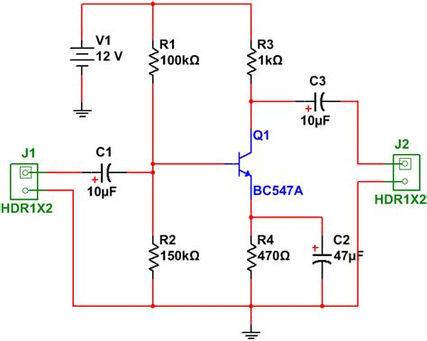 Pcb Design Practical Common Emitter Amplifier Circuit