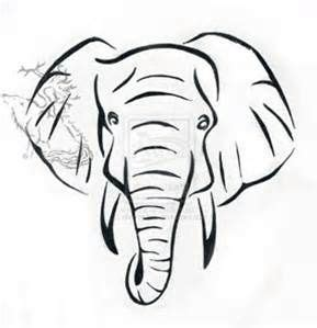 african tree stencil bing images elephant head tattoo