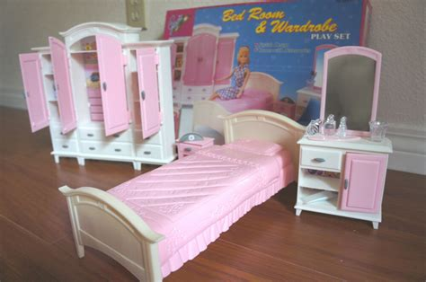 Dollhouse Furniture Set by New Gloria Doll House Furniture Bedroom Wardrobe Play