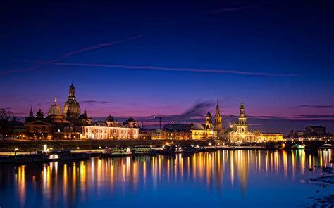 dresden city night house river germany hd desktop wallpaper  wallpaperscom