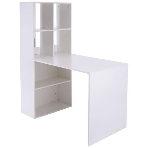 Office Furniture Yeadon by Vinsetto 57 Inch White Desk And Bookcase Combo Bookcase