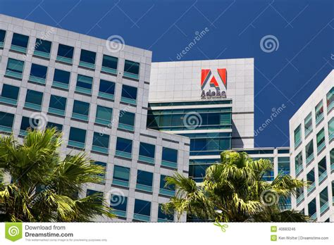 Adobe Systems Headquarters In Silicon Valley Editorial ...