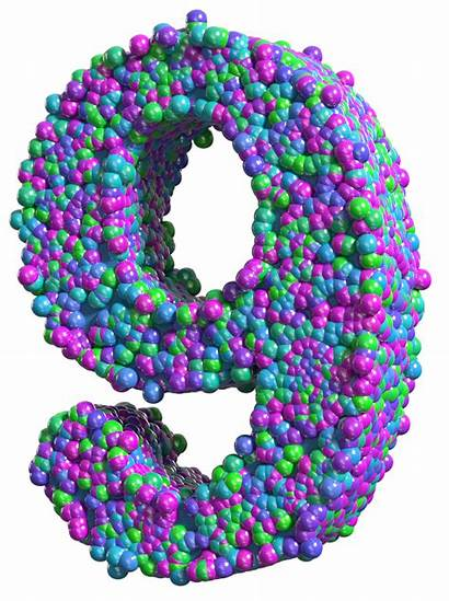 Number Transparent Clip Colorful Nine Clipart Numbers