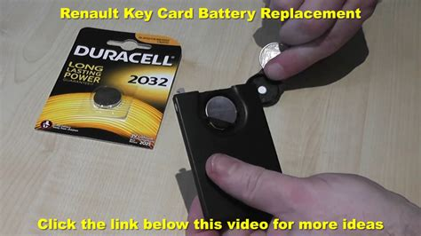 Renault Key Card Battery Replacement