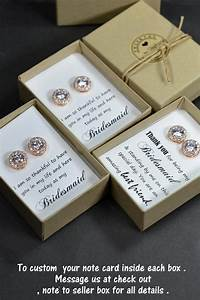 rose goldbridesmaids earringspersonalized bridesmaids With wedding gifts for bridesmaids