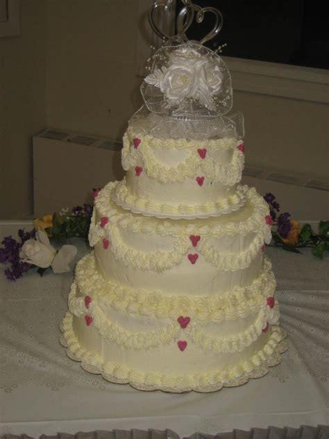 Simple Hearts 3 Tier Wedding Cake