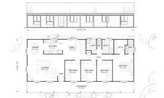 Simple Metal Home Plans Ideas by Gordon 4 Met Kit Homes 4 Bedroom Steel Frame Kit Home