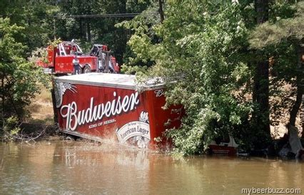 extreme drinking  driving budweiser truck drives